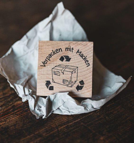 Verpacken mit Macken - Stempel – Blauer Leben